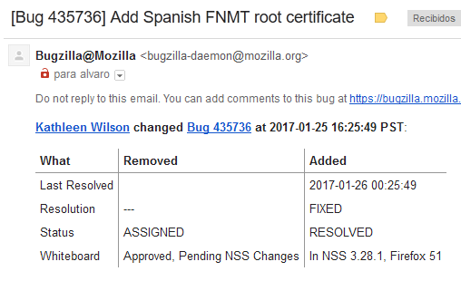 [Bug 435736] Add Spanish FNMT root certificate